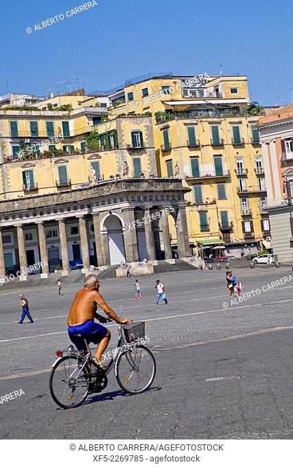 Plebiscite Square, Piazza del Plebiscito, Naples, Campania, Italy, Europe