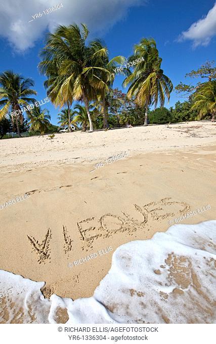 Sunbay beach in Vieques Island, Puerto Rico