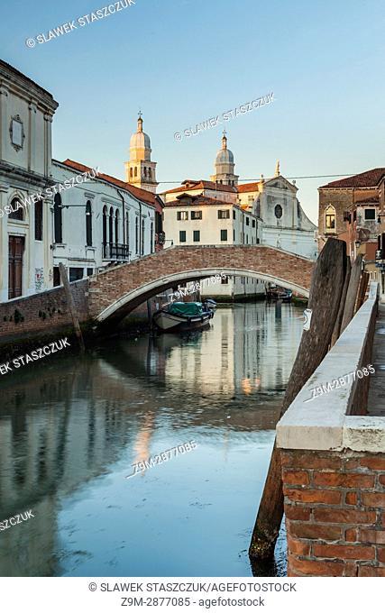 Sunrise in Dorsoduro district of Venice