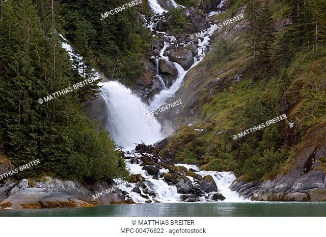 Creek in flood after heat wave, LeConte Bay, Stikine-LeConte Wilderness, Tongass National Forest, Alaska