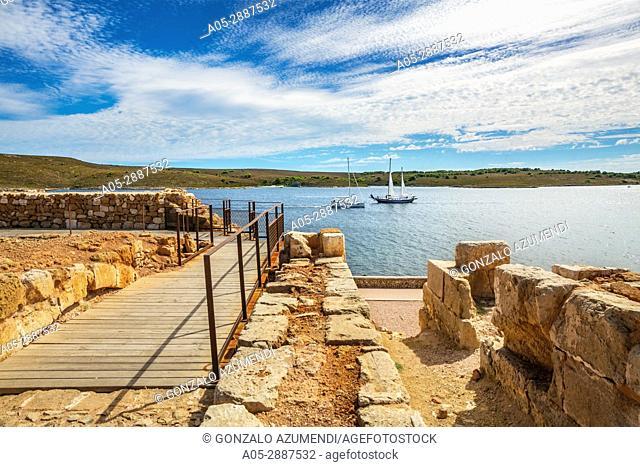 Sant Antoni Castle. Fornells Village. Es Mercadal Municipality. Minorca Island. Balearic Islands. Spain