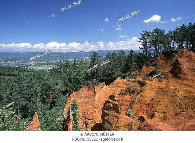 Ockre rock near Roussillon Provence Southern France