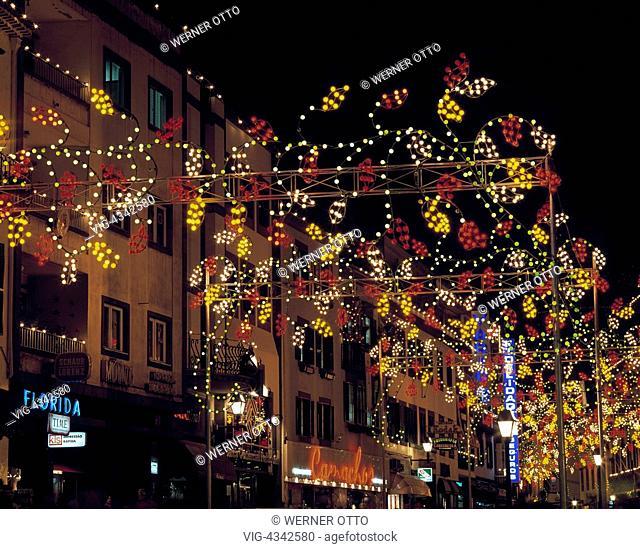 Otto Weihnachtsbeleuchtung.Portugal Madeira P Funchal Weihnachtsbeleuchtung Weihnachten