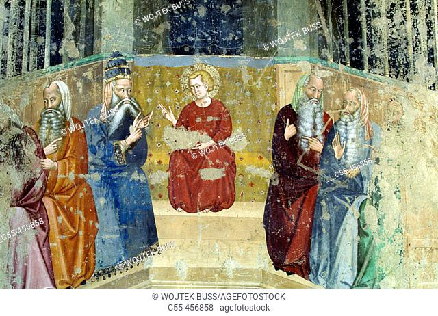 Frescoes in the Church of San Domenico, Arezzo. Tuscany, Italy