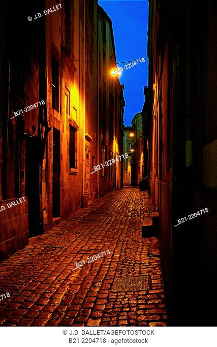 Rue de l'Observence, in the old Bordeaux, Gironde, Aquitaine, France