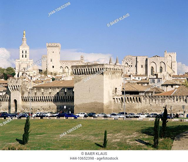 10652398, Old Town, view, Avignon, France, Europe, pope's palace, Provence