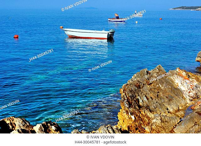 Prizba town, Island of Korcula, Dalmatian coast, Croatia