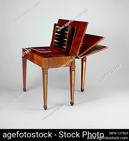 Game table. Maker: David Roentgen (German, Herrnhaag 1743-1807 Wiesbaden, master 1780); Date: ca. 1780-83; Culture: German