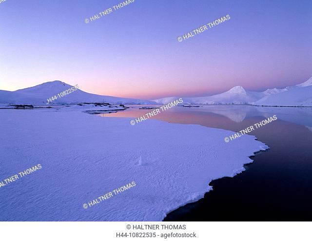 scenery, landscape, coast, sea, ice, snow, mood, dusk, twilight, Antarctic, Antarctic, Antarctic Ocean, cruise, port L