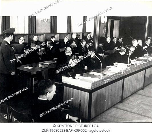 May 28, 1968 - GERMANY'S 'THALIDOMIDE TRIAL' OPENS. The Germany's 'thalidomide trial' began yesterday at Aledorf, near Aschen, and is expected to last two years