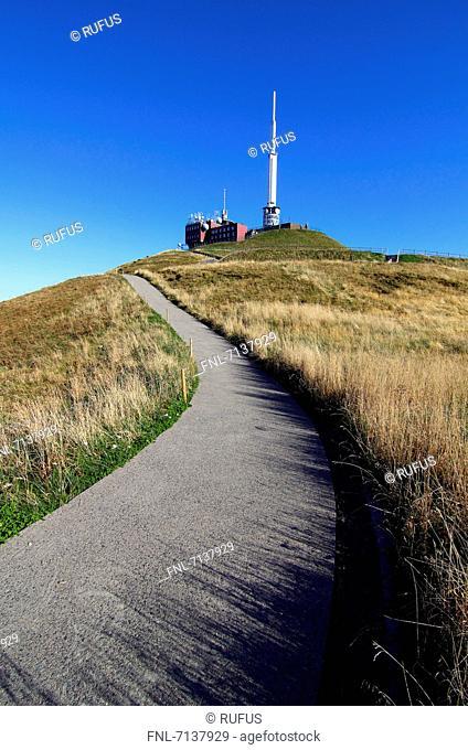 Observatory on Puy de Dome, Departement Puy-de-Dome, Auvergne, France, Europe