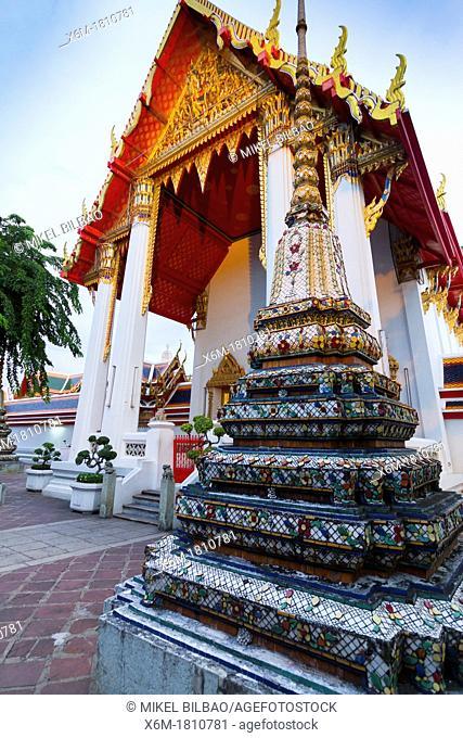 The ubosot  Wat Pho temple  Bangkok, Thailand
