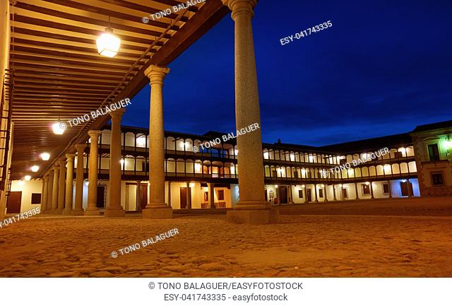 Tembleque Plaza Mayor in Toledo at Castile La Mancha on Saint james way