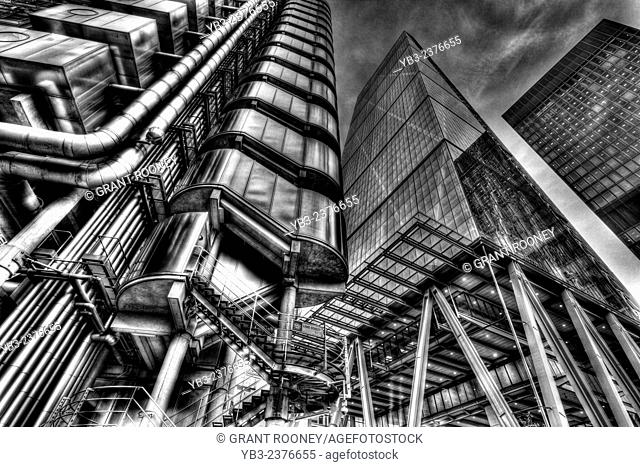 The Lloyd's Building and The Leadenhall Building, London, England