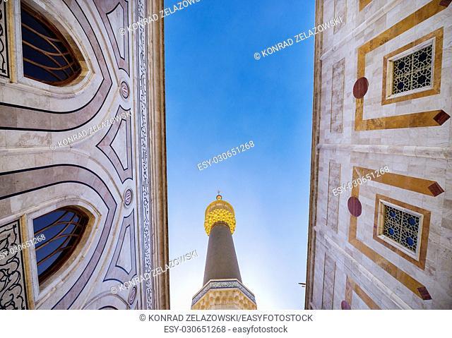 Minaret of Mausoleum of Ruhollah Khomeini in Tehran, capital of Iran