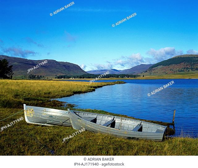 Spey Dam - Picturesque view across the reservoir created by the daming the River Spey near Newtonmore