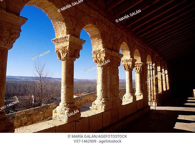 Portico of Nuestra Señora del Rivero church. San Esteban de Gormaz, Soria province, Castilla León, Spain