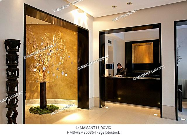 France, Paris, Saint Germain des Pres District, Hotel Montalembert, lobby