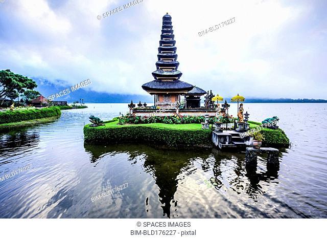 Pagoda floating on water, Baturiti, Bali, Indonesia