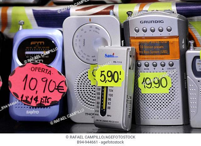 Transistor radios for sale. Barcelona, Catalonia, Spain