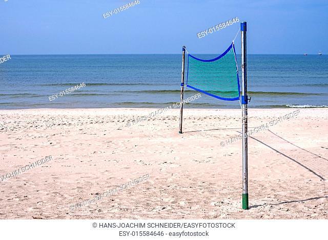 Beach-Volleyball field at a beach