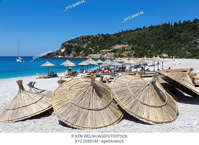 Albania. Livadhe (or Livadhi) beach near Himare