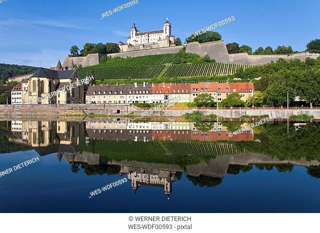 Germany, Bavaria, Franconia, W¸rzburg, Fortress Marienberg