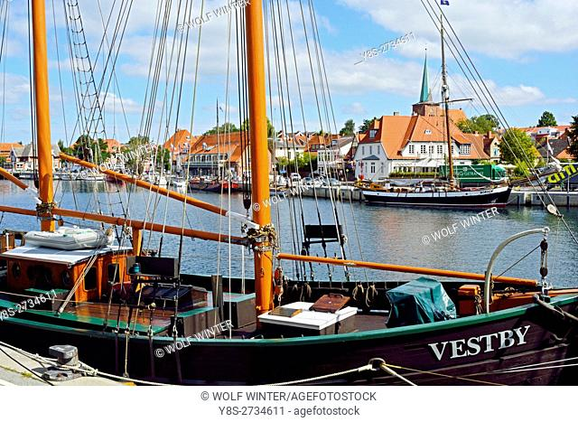 At the Bay of Luebeck. One of the most popular vacation regions in the north of Germany. . Neustadt, Schleswig-Holstein
