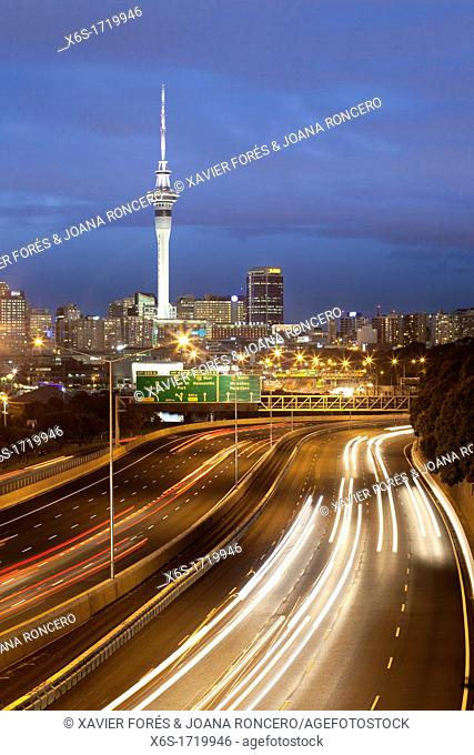Skyline of Auckland, Auckland, North Island, New Zealand