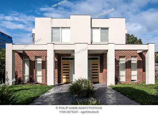 Starkly modern domestic architecture in suburban Melbourne, Australia