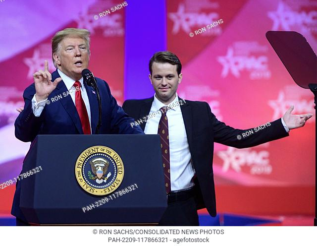 United States President Donald J. Trump with Hayden Williams, a conservative activist who was filmed being punched on the campus of the University of California...