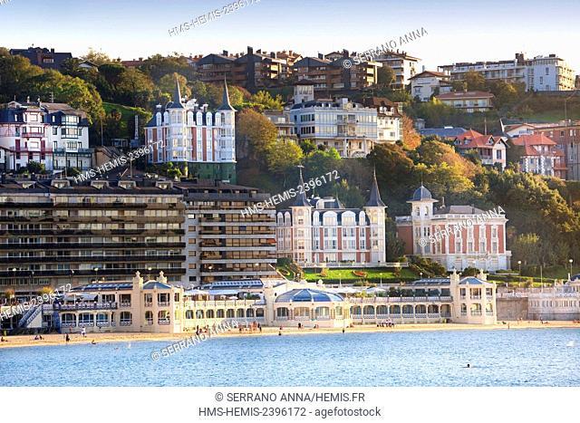 Spain, Basque Country, Guipuzcoa province (Guipuzkoa), San Sebastian (Donostia), European capital of culture 2016, Chef Pedro Subijana, 3 stars Michelin
