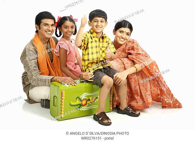 Rich Indian farmer family MR743A,743B,743C,743D