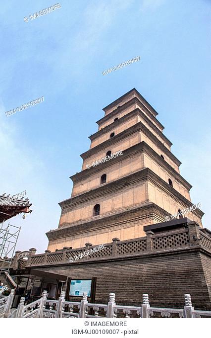 The Big Wild Goose Pagoda, Da Ci'en Temple, Xi'an, Shaanxi Province, China, Asia