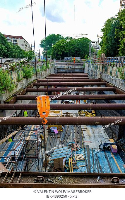 Subway construction, Line 5, U5, between Alexanderplatz and Brandenburg Gate, Berlin-Mitte, Berlin, Germany