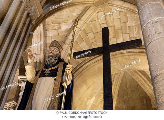 Religious figure in the Cathedral Museum of Santo Domingo de la Calzada in Santo Domingo de la Calzada - La Rioja, Spain