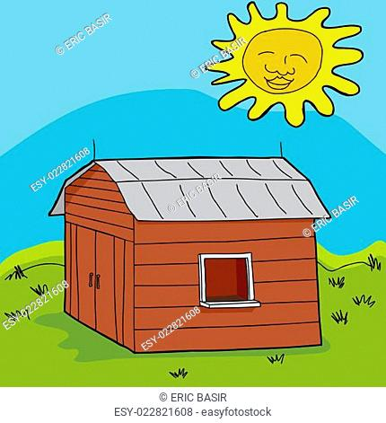 Sun Over Shed