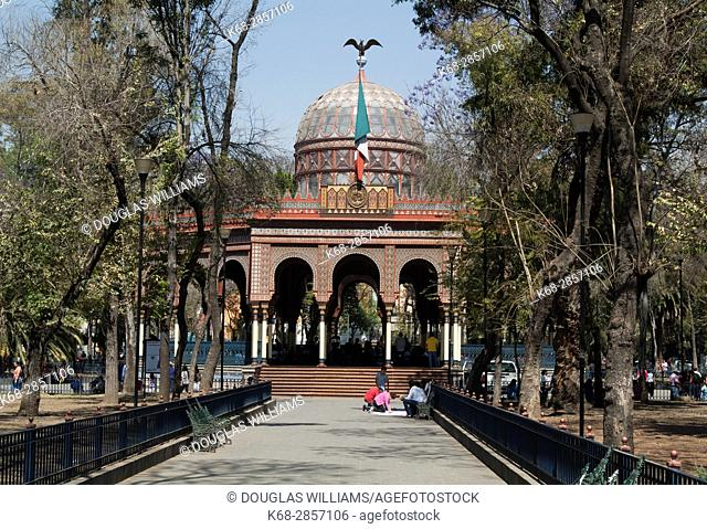 Morisco Kiosk in Alameda de Santa Maria La Ribera, plaza in Mexico City, Mexico