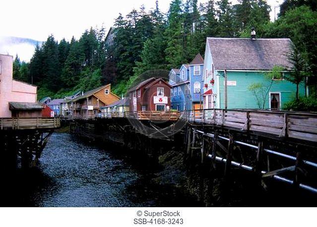 Usa, Alaska, Inside Passage, Ketchikan, Creek Street
