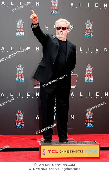 Sir Ridley Scott Hand and Footprint Ceremony Featuring: Sir Ridley Scott Where: Hollywood, California, United States When: 18 May 2017 Credit: FayesVision/WENN