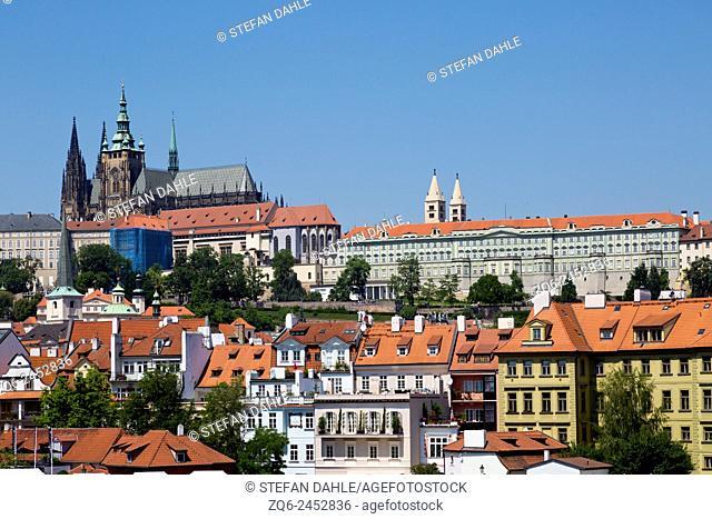 View onto the Prague Castle, Czechia