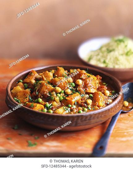 Vegetable tagine with couscous