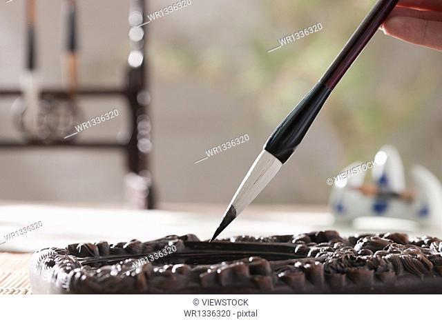 Brush inkstone