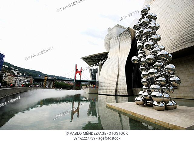 Detail of the Guggenheim museum in Bilbao, Spain