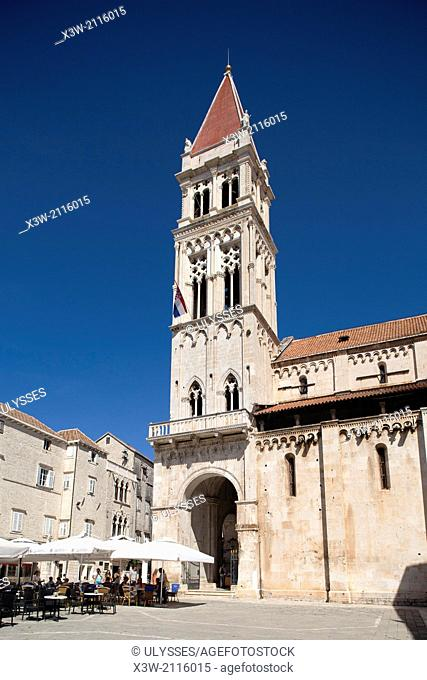 cathedral of st lawrence, trogir, dalmatia, croatia, europe