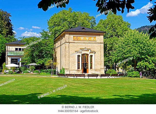 Health resort park, pump room, café bar pump room, Baden-Baden Germany