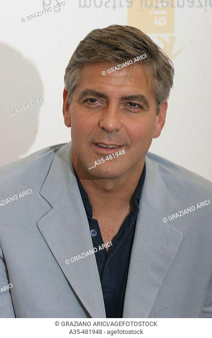 62nd Venice Film Festival (01/09/05): George Clooney, actor and director of the film 'Good night and good luck'