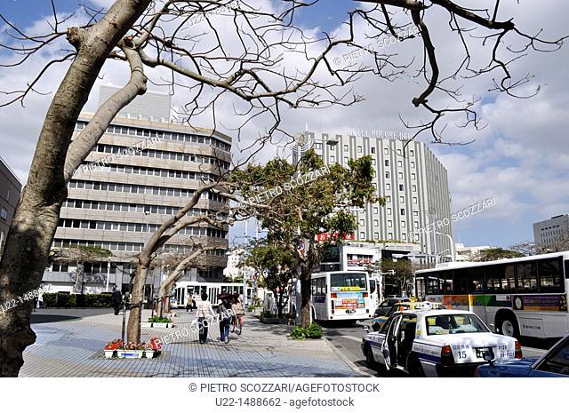 Naha (Japan): view of the city along Kokusai-dori