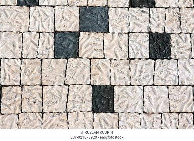 The stone floor