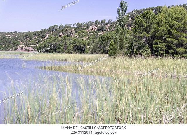 Reservoir of Valbona Spring in Gudar Javalambre mountains Teruel Aragon Spain
